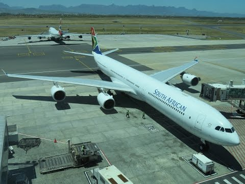 South African Airways A340-600 Business Class Cape Town to Jo'burg