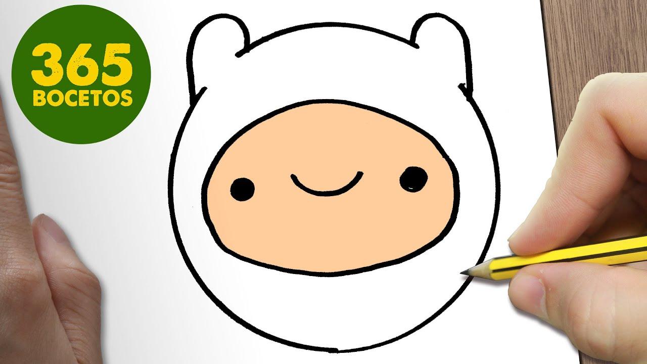 Como Dibujar Finn Emoticonos Whatsapp Kawaii Paso A Paso Dibujos Kawaii Faciles