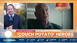 """'Couch potato' heroes: Germany applauds """"heroes"""" who stay at home in COVID-19 advert"""