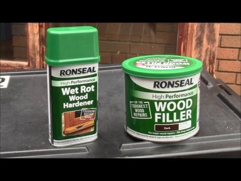 Ronseal Wood Filler and Ronseal Wet Rot Hardener