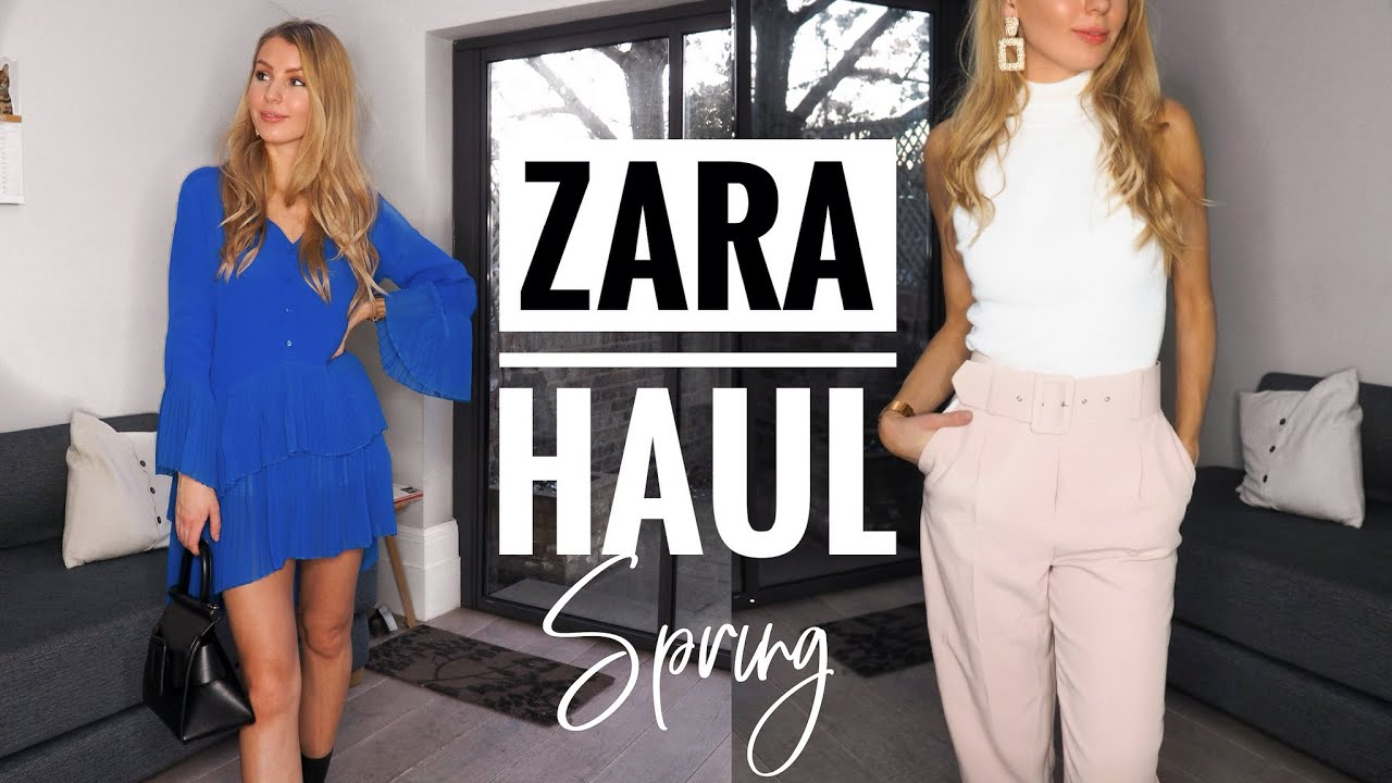 MASSIVE ZARA TRY ON HAUL SPRING 2019 | WORK WEAR HAUL & OFFICE WEAR HAUL | APRIL ZARA HAUL 5