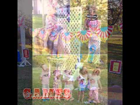 Carnival birthday party games decorations ideas