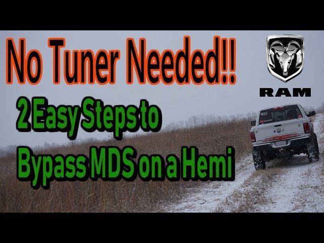 HOW TO: Turn Off MDS On Hemi Ram Trucks