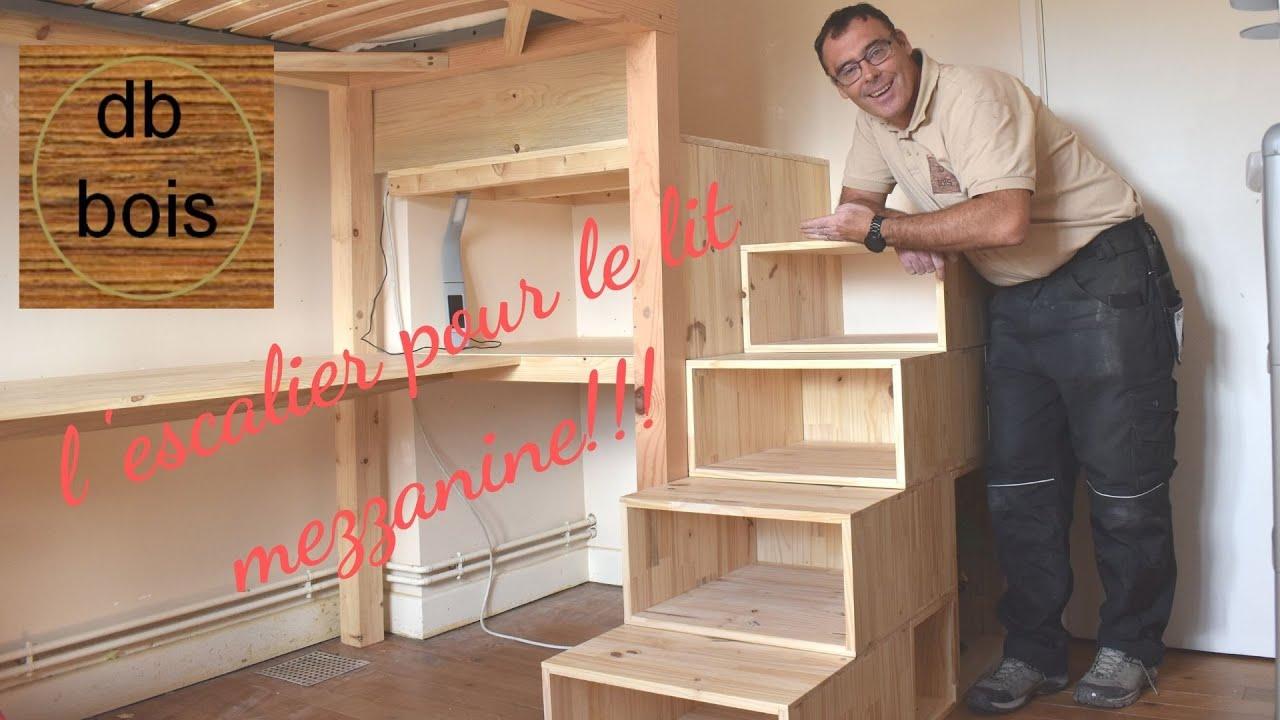 fabrication d un escalier pour un lit mezzanine partie 3