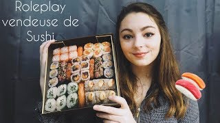 ASMR FRANCAIS ♡ ROLEPLAY Vendeuse de Sushi (whispered/ Tapping/ Scratching) ♡