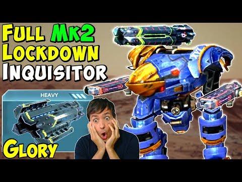 Mk2 Maxed Corona & Glory Lockdown Inquisitor - War Robots Gameplay WR