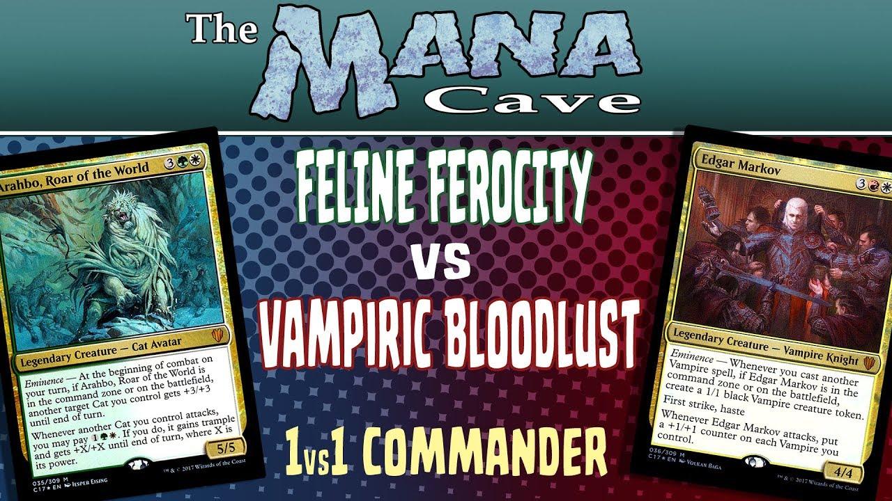 MTG - 1v1 Commander: Feline Ferocity vs Vampiric Bloodlust - The Mana Cave  (Ep 81)