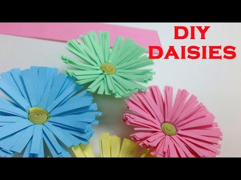 How to Make Paper Flowers Tutorial: Daisies | DIY Crafts Paper Flower: Making Daisy - EasyCrafts DIY