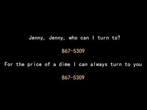 Tommy Tutone - 867-5309 / Jenny - Lyrics - 1981