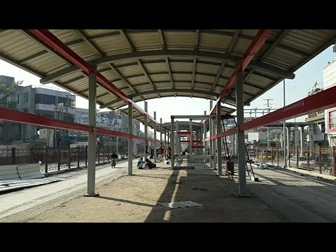 BRT METRO PESHAWAR BOARD STATION Construction | VLOG