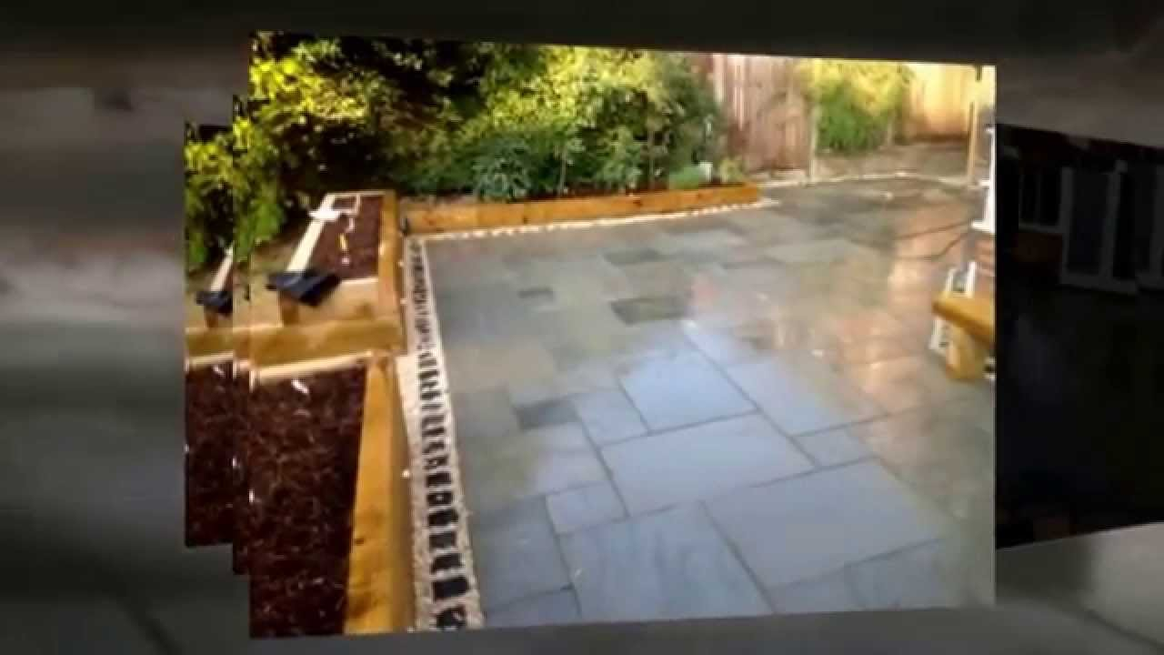 Aqua design landscaping surrey sleeper pond youtube for Garden pond design using sleepers