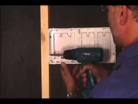 Recessed Tv Outlet Box, How To Hide Wires In Your Wall