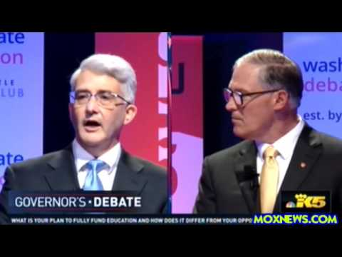 JAY INSLEE vs BILL BRYANT Washington State Governor's 2016 Debate