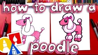 How To Draw A Cartoon Poodle