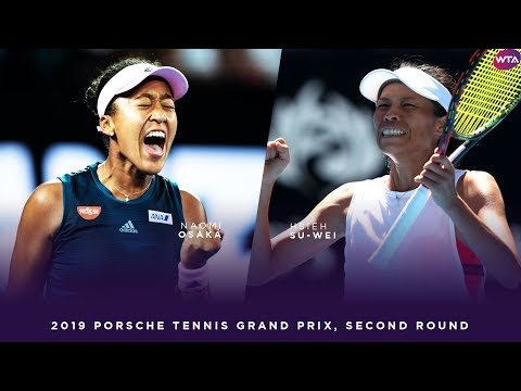 Naomi Osaka vs. Hsieh Su-Wei | 2019 Porsche Tennis Grand Prix Second Round | WTA Highlights