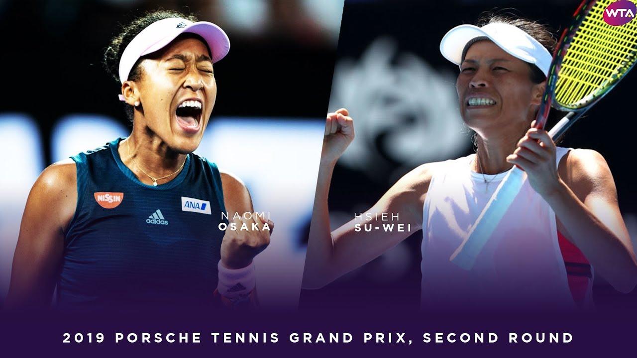 Naomi Osaka vs. Hsieh Su-Wei | 2019 Porsche Tennis Grand Prix Second Round | WTA Highlights