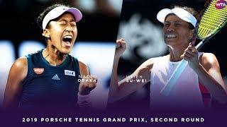Naomi Osaka vs. Hsieh Su-Wei   2019 Porsche Tennis Grand Prix Second Round   WTA Highlights