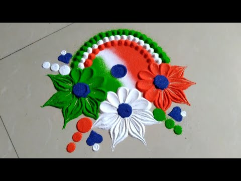 Independence day & Republic day rangoli design by Jyoti Raut rangoli