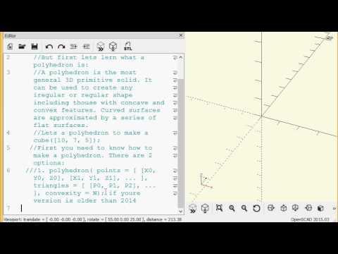 OpenSCAD tutorial: polyhedron