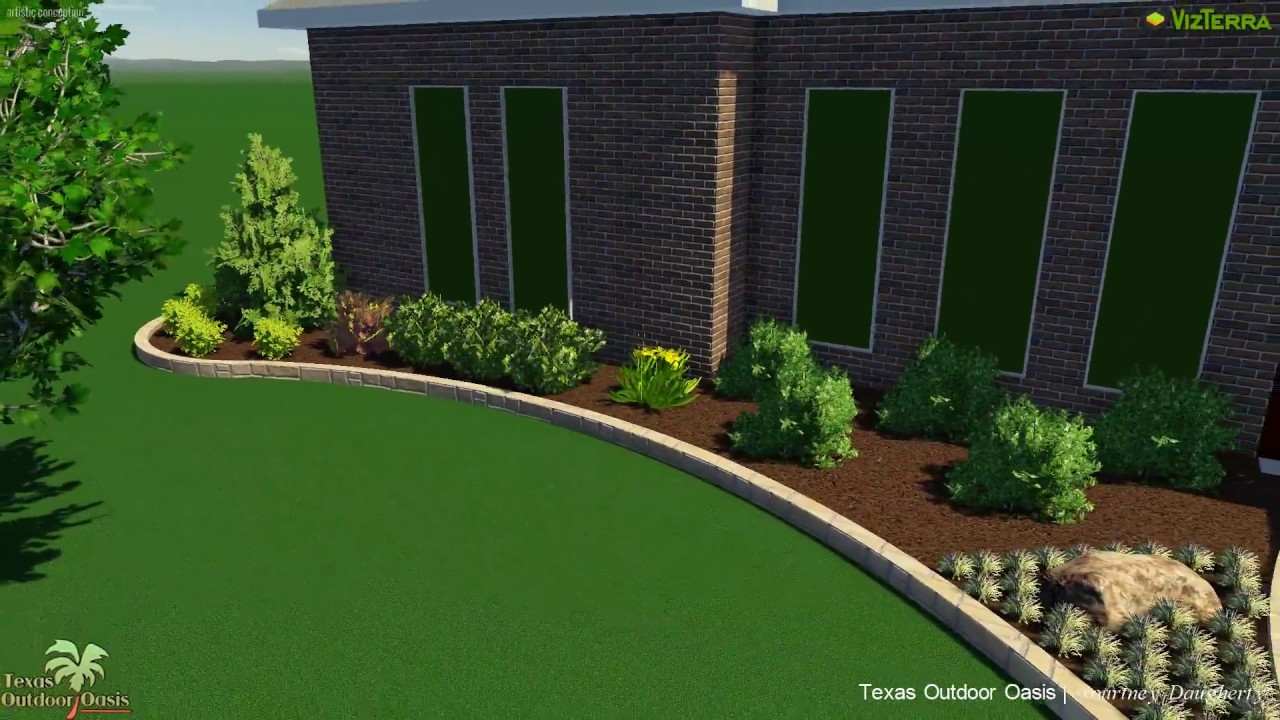Texas Outdoor Oasis Landscape With A