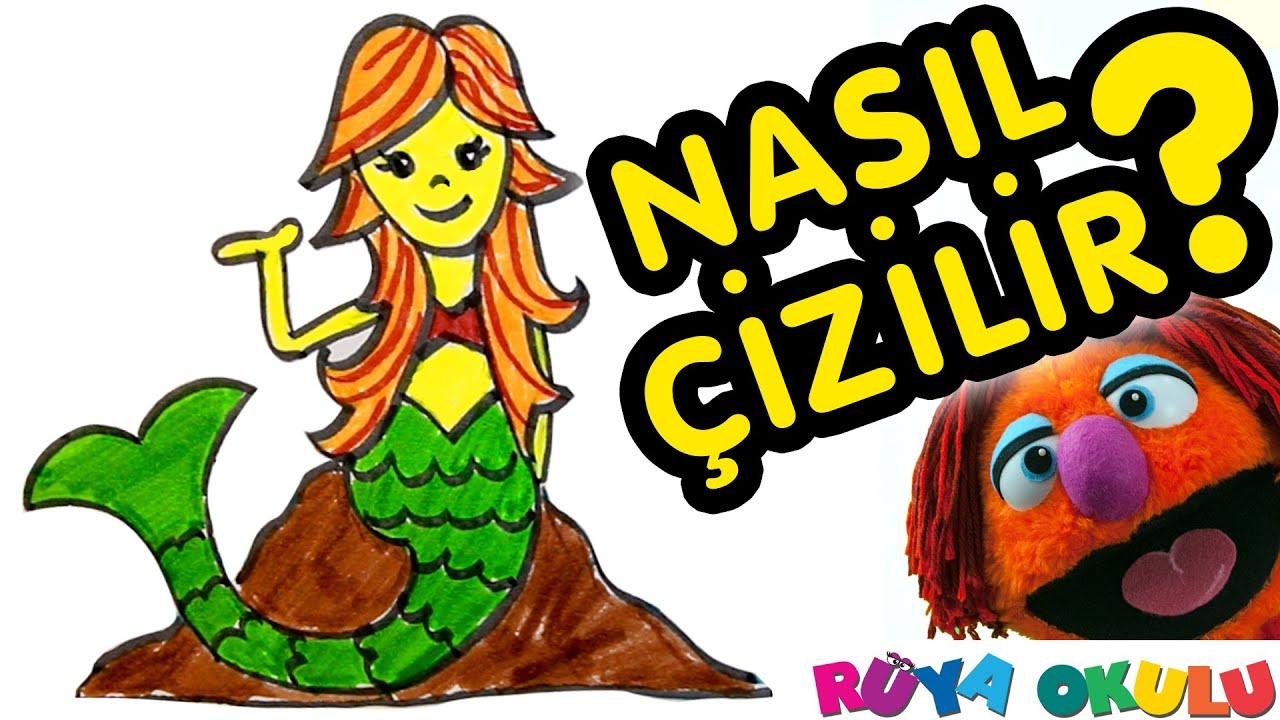 Nasıl çizilir Deniz Kızı çocuklar Için Resim çizme Rüya Okulu