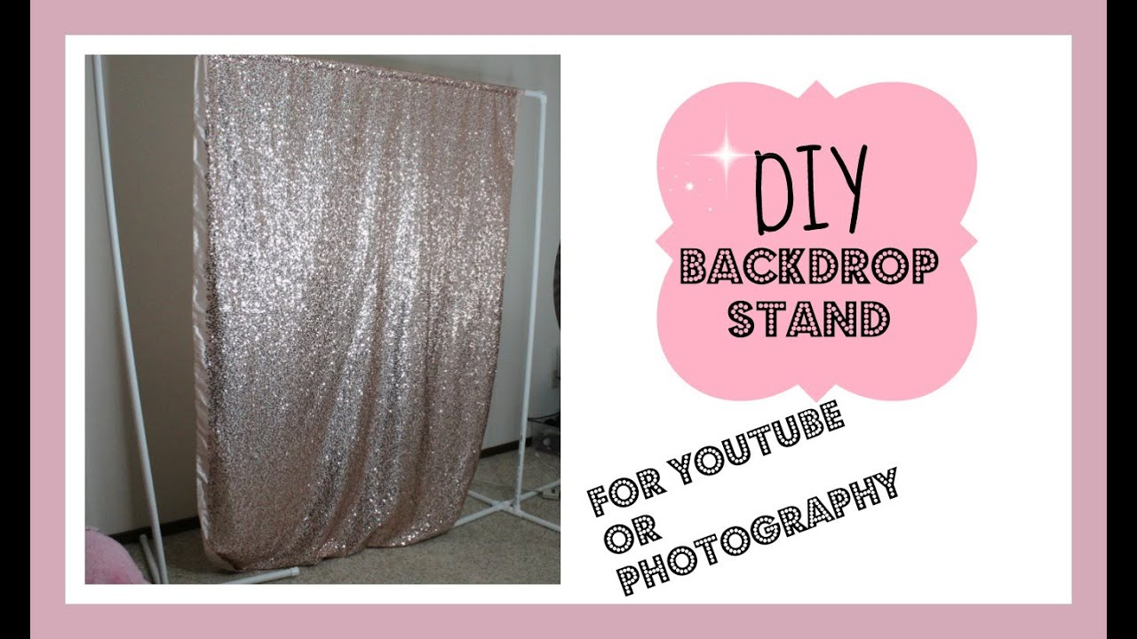 DIY Backdrop Stand for Youtube/Photography Under $20 - YouTube