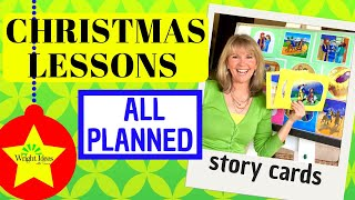 EASY CHRISTMAS LESSONS for SUNDAY SCHOOL, KIDS CHURCH, HOME & SCHOOL (Story Cards)
