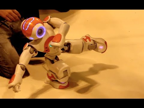NAO H25 Humanoid Robot Poise, Balance & Tai Chi Demo - By Aldebaran Robotics - Gadget Show Live 2013