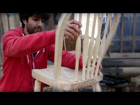 Matt Cremona making a Windsor chair from fresh logs