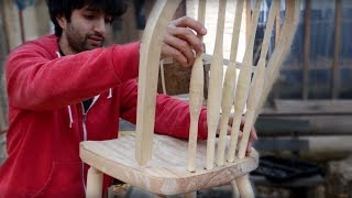 Matt Cremona making a Windsor chair from fresh logs