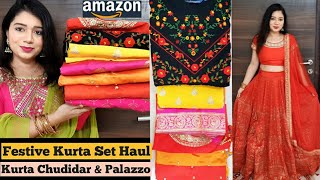 🌹Amazon Kurta Set Haul|Anarkalis/Chudidar/Sharara/ Skirt Sets/ #Amazon Sale🌹Pink's House