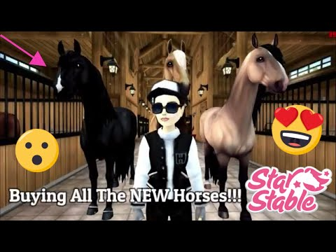 BUYING ALL OF THE NEW HORSES!? | Star Stable | Prettylibby