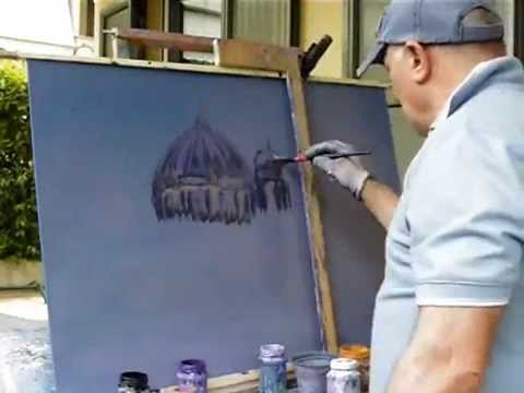 Painting video of Berlin  Cathedral