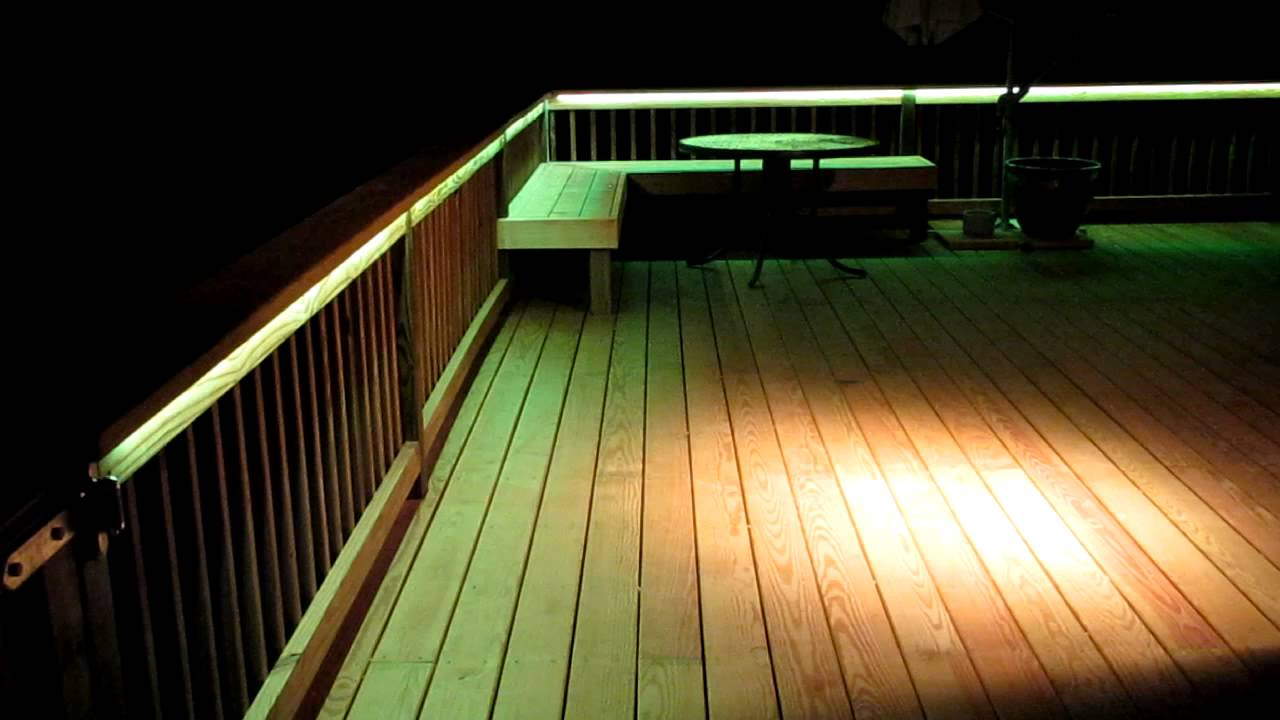 Led deck lighting youtube for Balcony lights