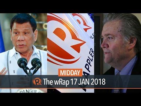 Rappler vs SEC, Duterte on Prieto family, Bannon testimony | Midday wRap
