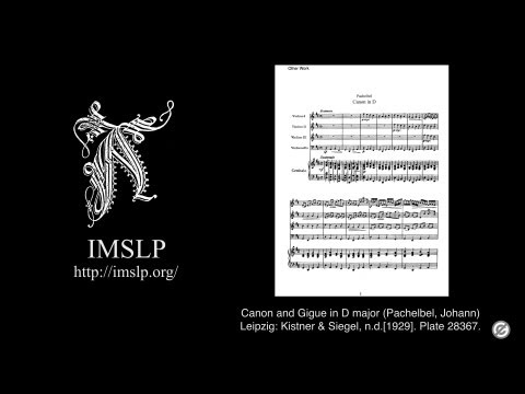 Canon and Gigue in D major Pachelbel with Music Score