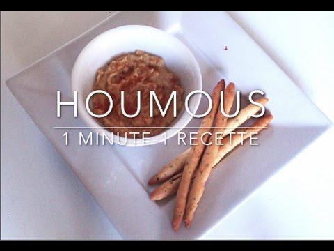 1 minute 1 recette recette de houmous sans tahini et - Houmous recette sans tahini ...