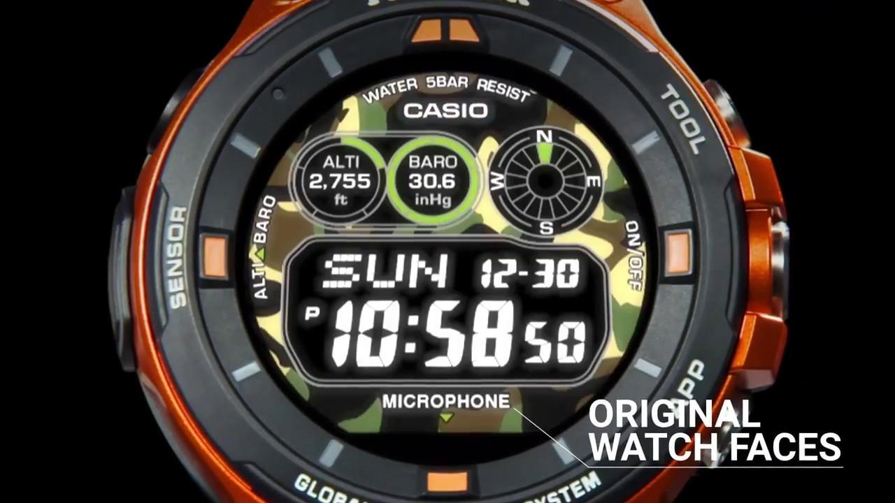 3a010551870b Casio Pro Trek Smart WSD-F20 Android Wear GPS Smartwatch ...