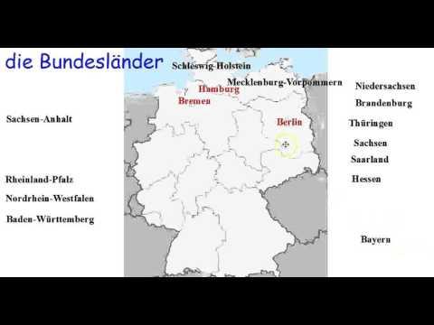 German Grammar: die Bundesländer, the States of Germany