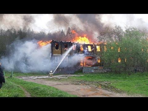 Вуктыл   Сгорел двухэтажный дом