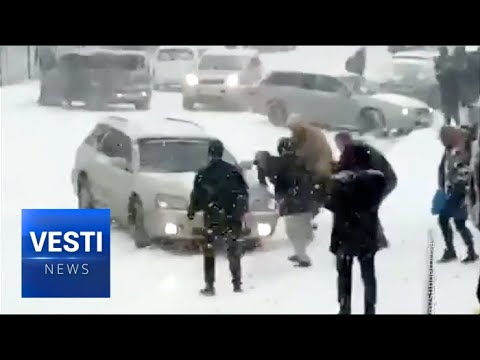 Vladivostok: Traffic Jams, Mass Accidents as if the Whole City Is an Ice Skating Rink
