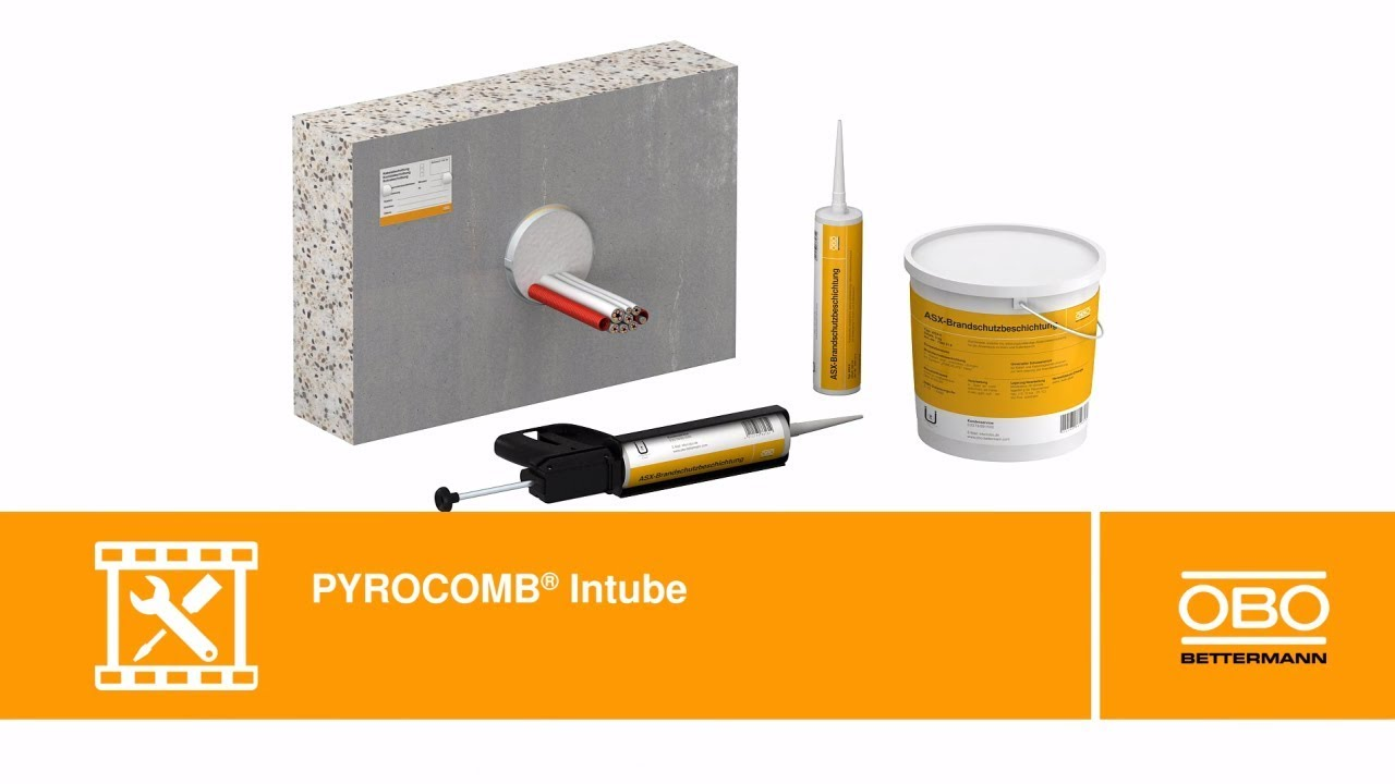 Abschottungs-System PYROCOMB® Intube -Montage - YouTube