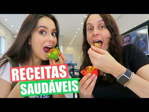 Receitinhas Saudáveis com minha Mãe! (Muffin + Bolo)| Stephanie Garcia