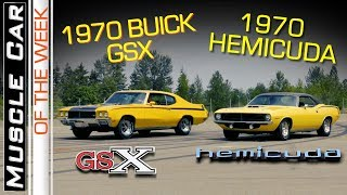 1970 Buick GSX and 1970 Hemi Cuda Rivalry Muscle Car Of The Week Episode 279 V8TV