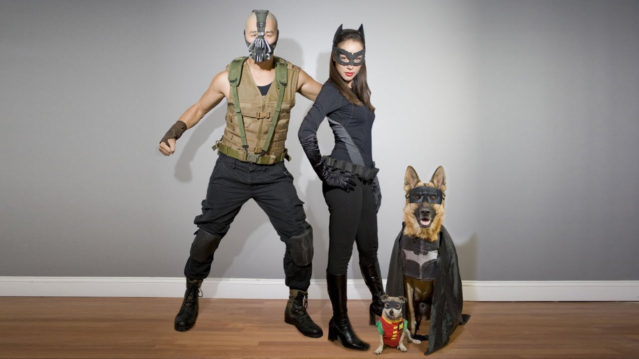 homemade dark knight rises costumes bane catwoman batman robin slideshow youtube - Halloween Costumes Bane