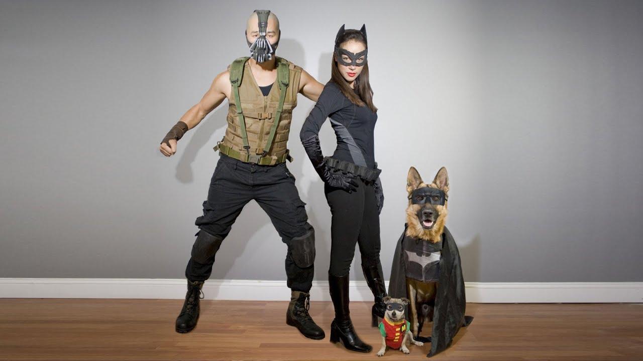 Homemade Dark Knight Rises Costumes. Bane, Catwoman ...