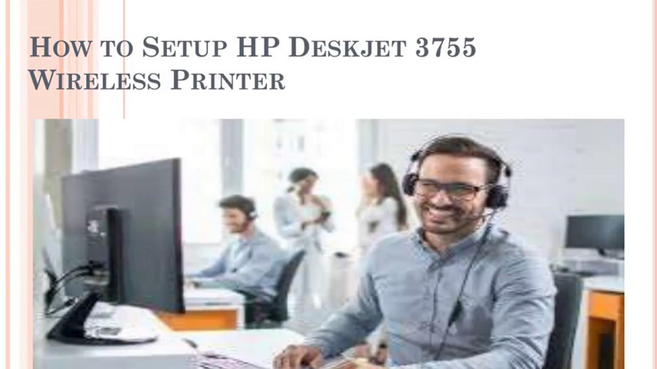 HP Deskjet 3755 Wireless Printer Setup - YouTube