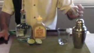 Simple Agave Nectar Margarita Cocktail