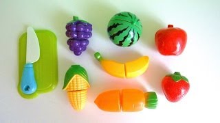 Toy cutting fruit velcro cooking playset