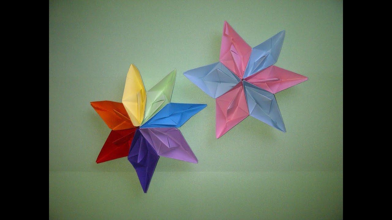 Como hacer estrellas de papel en 3d con barcos de papel - Estrellas de papel ...